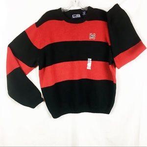 NWOT Nebraska Cornhuskers Sweater Red Black Sz L